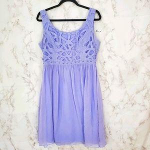 ANTONIO MELANI Periwinkle Fit & Flare Dress Mini